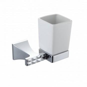 Стакан для зубных щеток настенный Artik GRANI 4009 хром