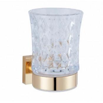 Стакан для зубных щеток настенный золотой GUS 750210