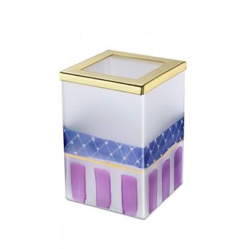 Стакан настольный для зубной пасты и щеток Windisch Deco BOX 91184MO золото