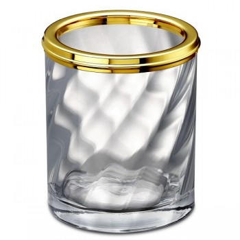 Стакан для зубной пасты и щеток большой Windisch Spiral 91804O золото