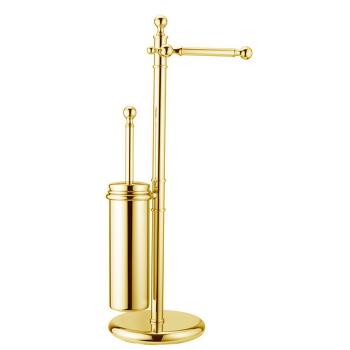 Стойка для туалетного ерша и держателя туалетной бумаги Huber Croisette 4044.01H.DO золото