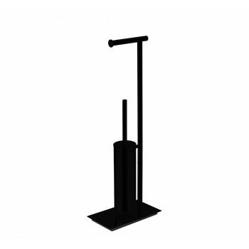 Стойка с аксессуарами для туалета черная Colombo Square B9907.NM