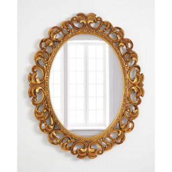 Зеркало в раме овальное LouvreHome Шербур Голд LH615G