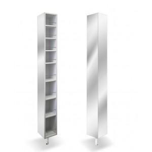 Шкаф поворотный зеркальный квадратный Спика Шелф (22,5х177)