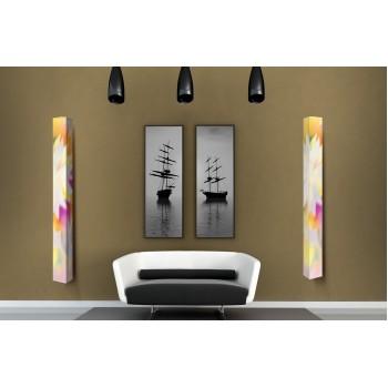 Шкаф поворотный зеркальный с принтом Iglu Art