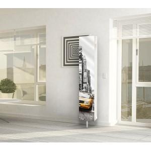 Шкаф поворотный зеркальный с принтом Zoom Art (30х158)
