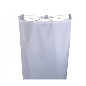 Шторка для душа с раскладной штангой Ridder Ombrella (100х70 см) белая 583010