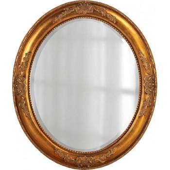 Зеркало овальное в золотой раме LouvreHome Эвора LH0-011G