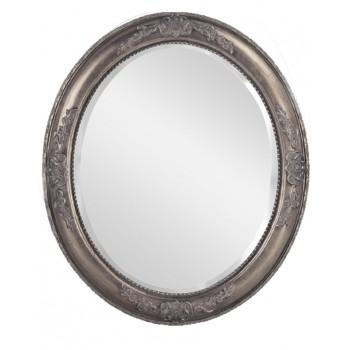 Зеркало овальное в серебряной раме LouvreHome Эвора LH0-011S