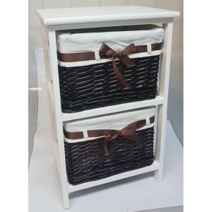 Этажерка деревянная с двумя ящиками HQ18-13B PC