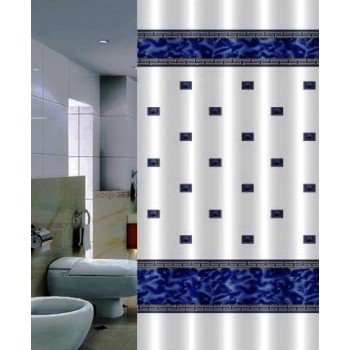 Шторка для ванной Zumrut DR-50014 голубая