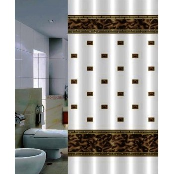 Шторка для ванной Zumrut DR-50017 коричневая