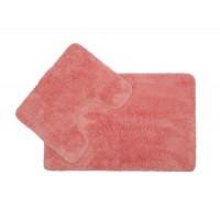 Коврик для ванной и туалета розовый Supersoft DR-60030