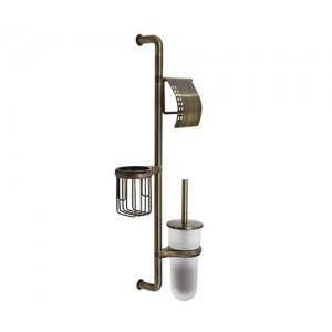 Стойка настенная для ванной WasserKRAFT K-1458 бронзовая