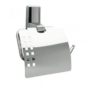 Держатель для туалетной бумаги с крышкой WasserKRAFT Leine К-5025
