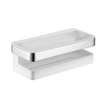 Полка прямоугольная металлическая с пластиковой вставкой Keuco Moll 12758.010000