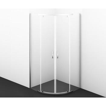 Душевой уголок с распашными дверьми Leine 35P01 полукруглый