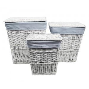 Плетеная корзина для белья Wasserkraft Lippe WB-450-M белая