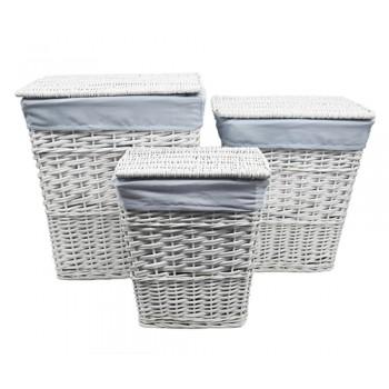 Плетеная корзина для белья Lippe WB-450-M белая
