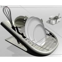 Сушилка для посуды Allegro M-E02-06 черная