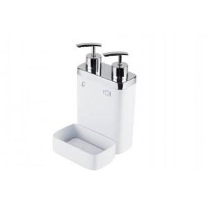 Дозатор для жидкого мыла и моющего средства с губкой VIVA M-E10-01