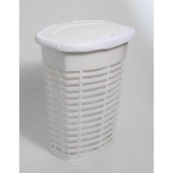 Корзина для белья пластиковая белая Primanova PALM M-E44-01-01