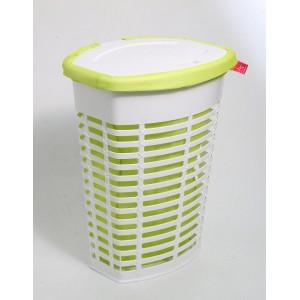 Корзина для белья пластиковая салатовая Primanova PALM M-E44-01-05