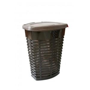 Корзина для белья пластиковая коричневая Primanova PALM M-E44-10-10