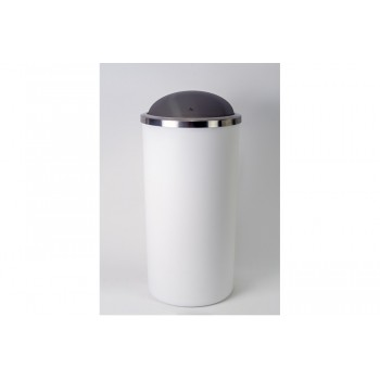 Урна для мусора пластиковая Primanova LENOX M-E48-01 белая (35л)