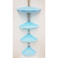 Полка для ванной угловая телескопическая (4 полки) Primanova M-N17-02 голубая