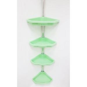 Полка для ванной угловая телескопическая (4 полки) Primanova M-N17-05 зеленая