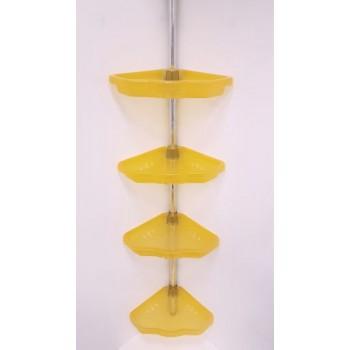 Полка для ванной угловая телескопическая (4 полки) Primanova M-N17-17 оранжевая