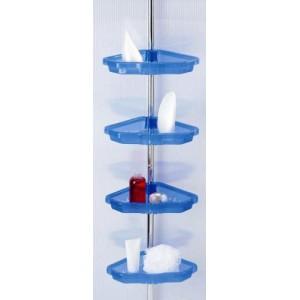 Полка для ванной угловая телескопическая (4 полки) Primanova M-N17-23 синяя