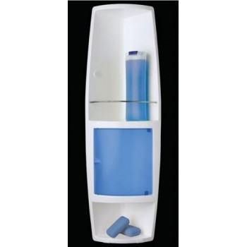 Угловой шкафчик для ванной Stack M-S04-23 голубой