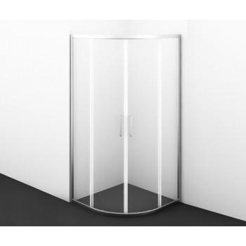 Полукруглый душевой уголок Main 41S01 с раздвижными дверьми