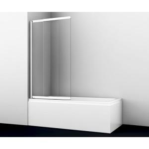 Стеклянная шторка для ванны раздвижная Wasserkraft Main 41S02-80 (800х1400)