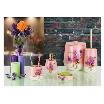 Набор аксессуаров для ванной Pink-Flower D-20100