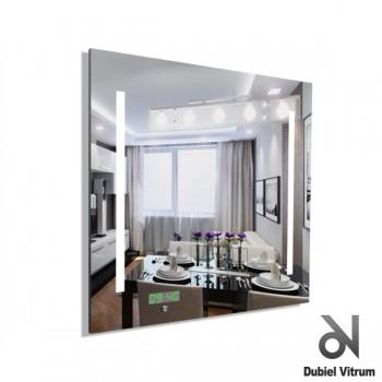 Зеркало с часами и подсветкой Dubiel Vitrum Ready Z (65х65)