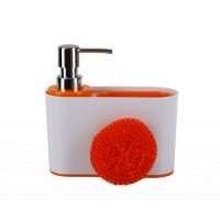 Дозатор для кухни с губкой Sienna D-13191