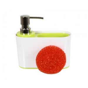 Дозатор для кухни с губкой Sienna D-13192