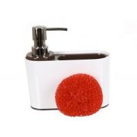 Дозатор для кухни с губкой Sienna D-13193