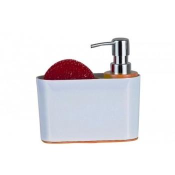 Дозатор для кухни с губкой Sienna D-13194