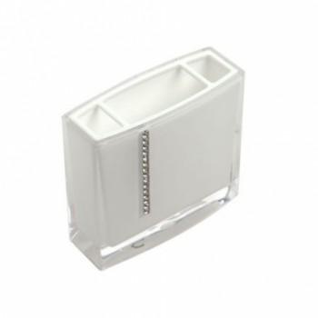 Стакан для зубных щёток Roma D-14702 белый
