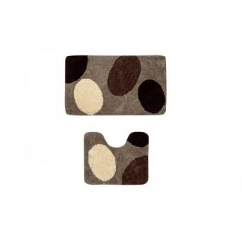 Коврик для ванной и туалета Chocolate Drops D-19087
