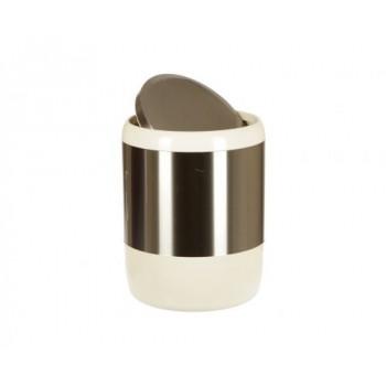 Ведро для мусора бежевое (6 л) Lima M-E06-09
