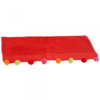Полотенце Nora красное D-15089 (30x50)