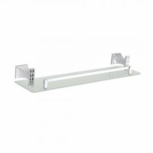 Полка в ванную комнату стекло с бортиком Artik GRANI 4012 (50см)