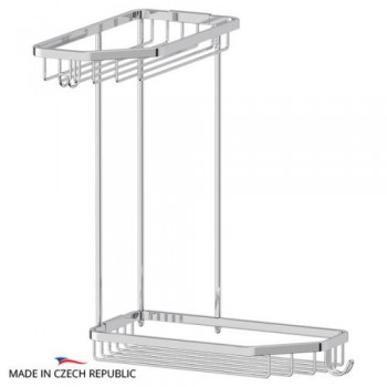 Полка-решетка развернутая двойная 28 см RYN013
