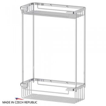 Полка-решетка прямоугольная двойная 20 см RYN020