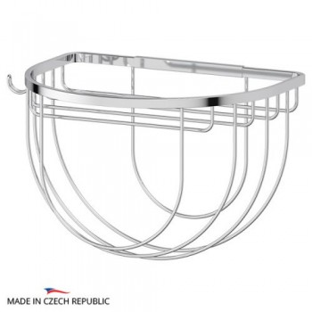 Полка-решетка полукруглая с держателем для мочалок 26 см RYN031